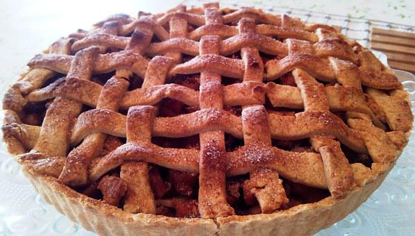 Apple, Pie, Lattice, Dessert, Crust, Thanksgiving