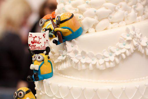 Just Married, Minions, Wedding, Marry, Wedding Cake