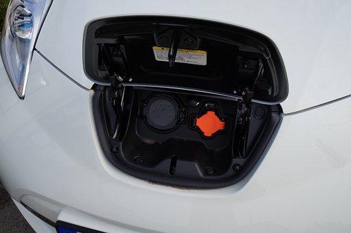 Nissan Leaf, Charging Socket, Recharging, Electric Car