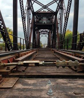 Trestle, Train, Autumn, Railroad, Perspective, Bridge