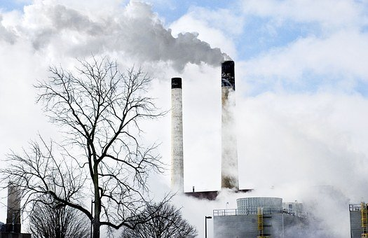 Smoke Stacks, Power Plant, Power, Smoke, Pollution