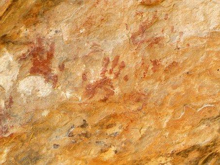 Rock Art, Hand, Red Rock Canyon, Mojave, Desert, Native