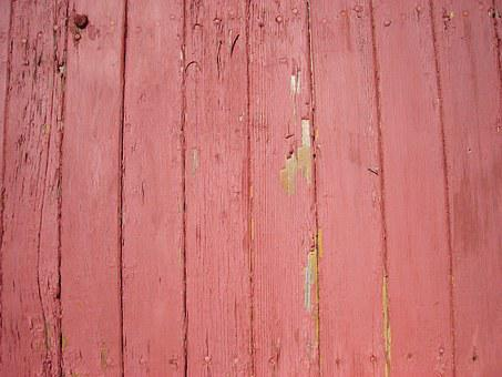 Wood, Paneling, Red, Paint, Texture, Textured