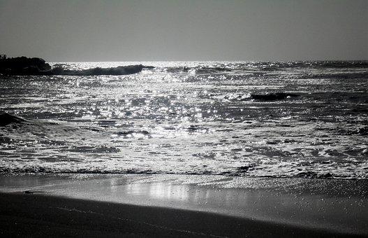 Seascape, Water, Ripples, Sea, Reflection, Sky, Horizon