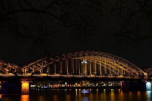 Hohenzollern Bridge, Rhine, Cologne, Bridge, River, Dom
