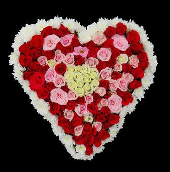 Heart, Flowers, Roses, Love, Birthday, Bouquet