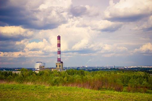 Landscape, Chimney, Nature, Sky, Industry, Plant