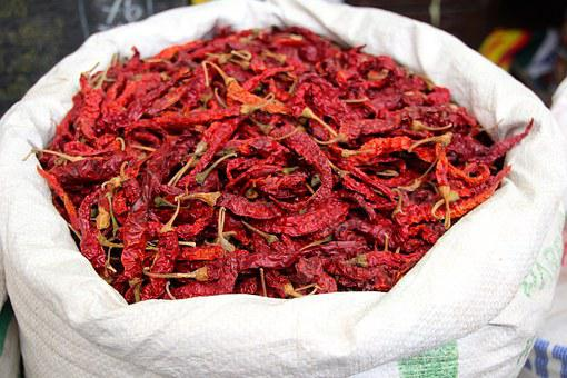 Chili, Color, Spices, Saffron, Powder, Bags, Sharp