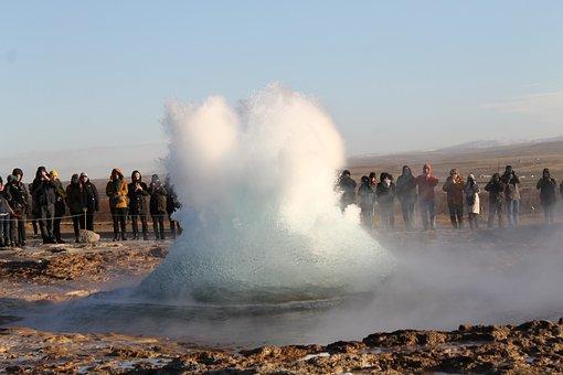 Geyser, Water, Fountain, Iceland, Strokkur