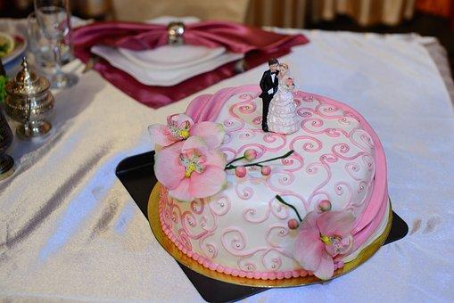 Wedding Cake, Sweets, Cream, Just Married, Wedding