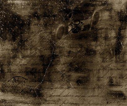 Texture, Cracked, Antique, Sepia, Dark, Grunge, Letter