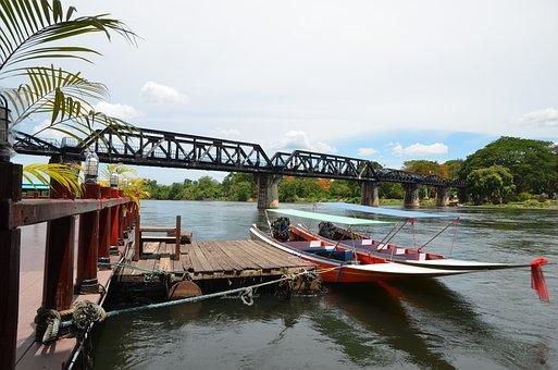 Bridge, River, Kwai, Train, Thailand
