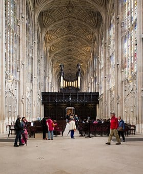 King's College Chapel, Cambridge, Tourists