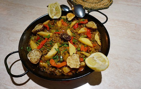 Vegan Paella, Spain, Paella De Verduras, Vegetables