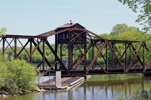 Trestle, Train, Swivel, Bridge, Railroad, Vintage