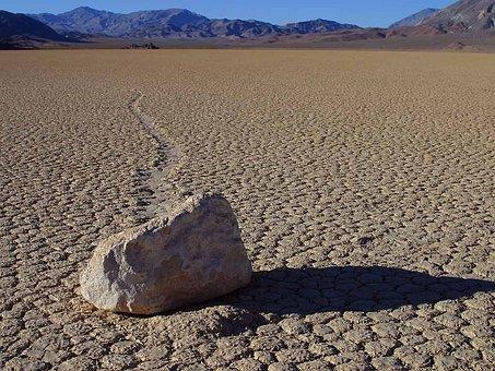 Wandering Rocks, Stones, Death Valley, Wind, Usa