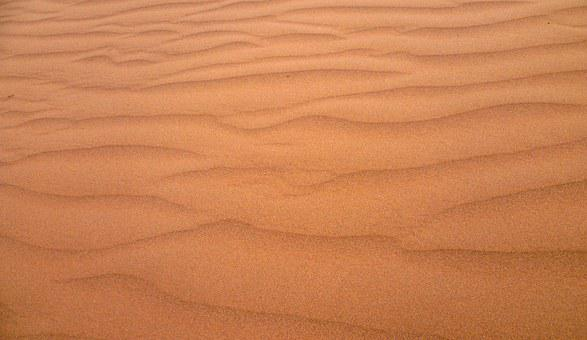 Abstract, Sand, Material, Nature, Waves, Ripple, Orange