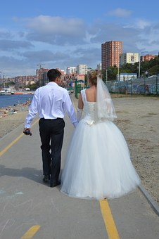 Couple, Love, Wedding, The Groom, Bride, Stroll, Young