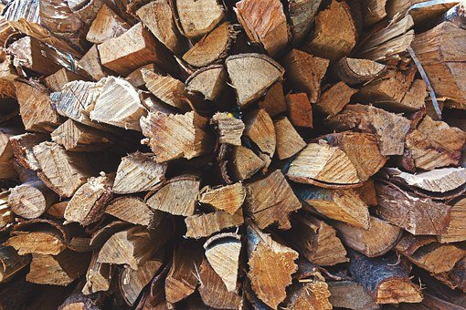 Fire, Wood, Stack, Pile, Material, Natural, Energy