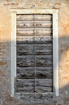Door, Wood, Texture, Paint, Wall, Color