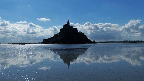 Mont Saint Michel, Abbey, Normandy, Bay, Brittany