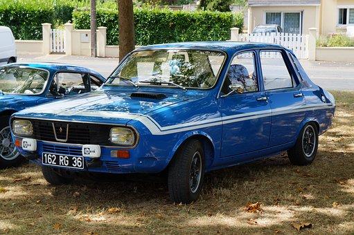 Auto, Renault 12, Gordini, Blue
