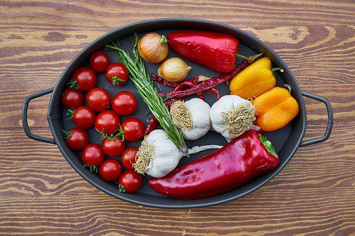 Tomato, Garlic, Pepper, Onion, Nutrition, Backgrounds