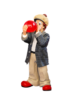 Figure, Clown, Porcelain, Balloon, Cheerful, Decoration