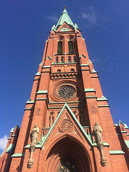Stockholm, Church, Blue Sky