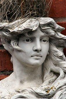 Face, Statue, Garden Ornament