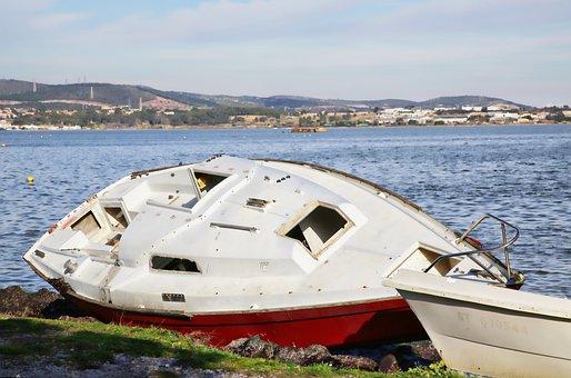 Boat, Failed, Failed Boat, Wreck, Water, Landscape