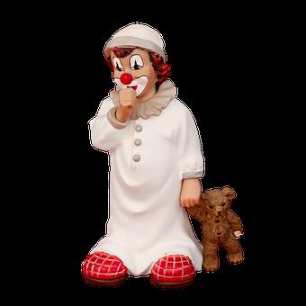 Figure, Clown, Porcelain, Teddy Bear, Cheerful