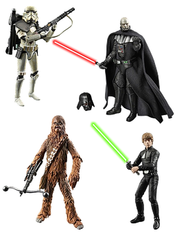 Figures, Star Wars, Isolated, Figure, Film, Laser Sword
