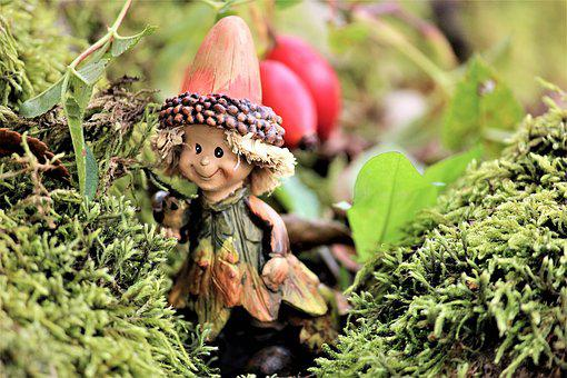 Autumn, Imp, Moss, Figure, Funny, Nature, Fairy Tales