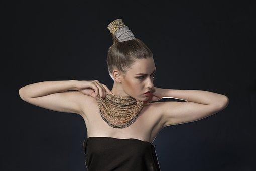Model, Jewelry, Goldsmith, Sexy, Hair, Aesthetics