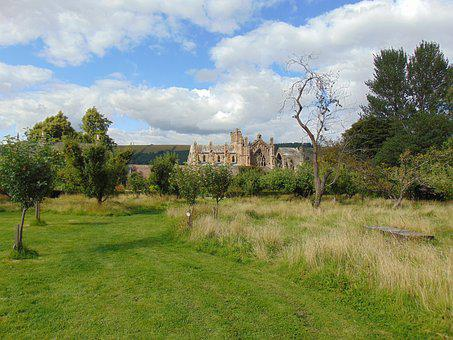Melrose Abbey, Scotland, Historic, Medieval, Ruin