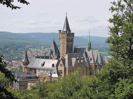 Castle, Wernigerode, Resin, Historically