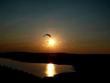 Sunset, Tihany, Lookout Tower, Lake Balaton, Lake