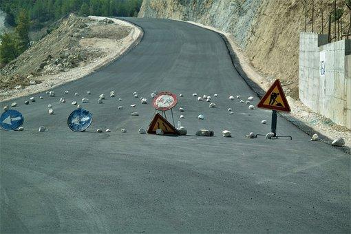 Road, Lock, Redirect, Road Construction