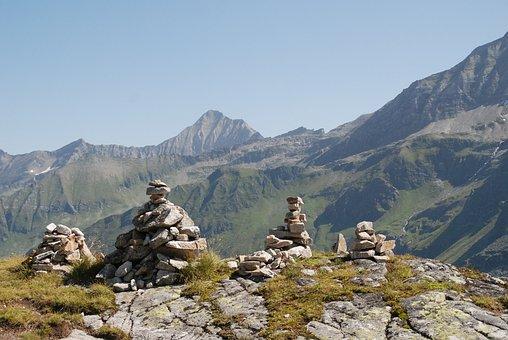 Maanmannetjes, View, Mountains, Austria