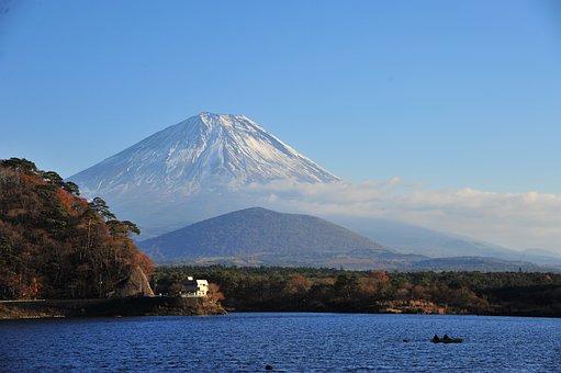 Mt Fuji, 子抱 Fuji, Lake Shoji