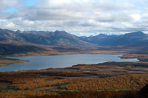 Lake, Autumn, Mountains, Nachikinskoe Lake, Kamchatka