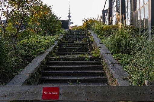 Stairs, Hamburg, Planned Un Blomen, Architecture