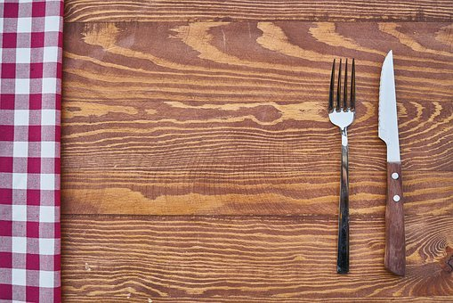 Table, Fork, Knife, Product Photo, Background