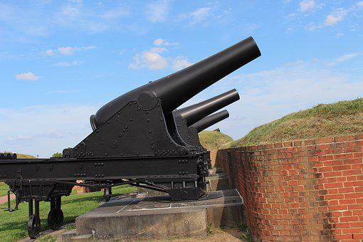 Fort, 1812, Cannons, Baltimore, Star, Spangled, Banner