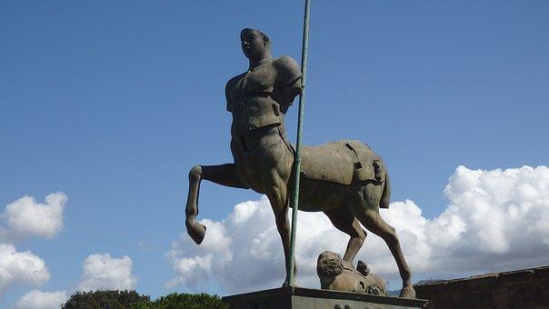 Pompeii, Centaur, Statue, Travel, Italy