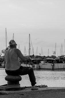 Sitting, Fishing, Rod, Activity, Leisure, Fisherman