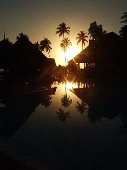 Zanzibar, Sea, Africa, Sunrise, Indian Ocean