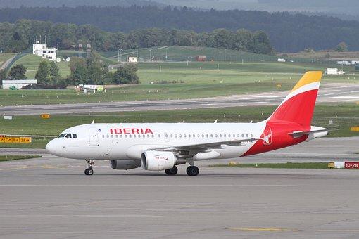 Aircraft, Iberia, Passenger Aircraft, Airport Zurich