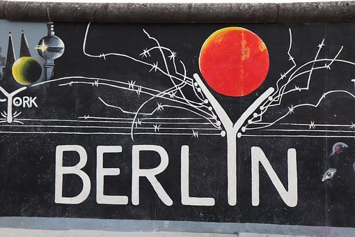 Berlyn, East, Side, Gallery, Berlin, Berlin Wall
